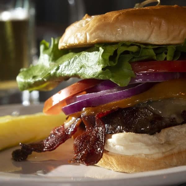 Restaurant menu item - burger